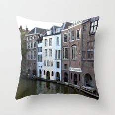Water and bricks Throw Pillow