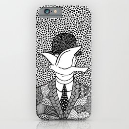 Magritte - Man in a bowler hat iPhone Case
