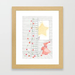Holiday Star at the Window Framed Art Print