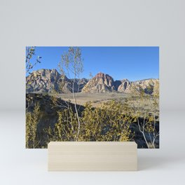 Towering Mountains   Bright Blue Sky   Nature   Outdoors Mini Art Print