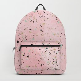 Blush and gold marble terrazzo design Backpack