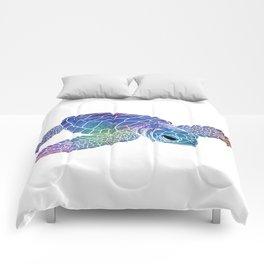 Colorful Sea Turtle I Comforters
