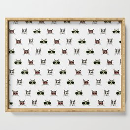 Cats Wearing Sunglasses Pattern Serving Tray