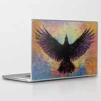 crow Laptop & iPad Skins featuring Crow by Michael Creese