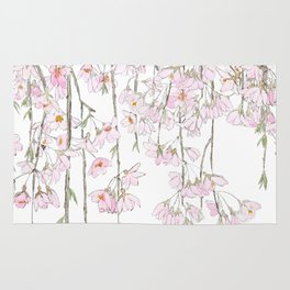 pink cherry blossom spring 2018 Rug
