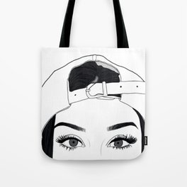 GIRL-FACE-DRAW Tote Bag