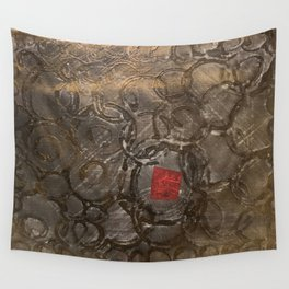 perplexed gold Wall Tapestry