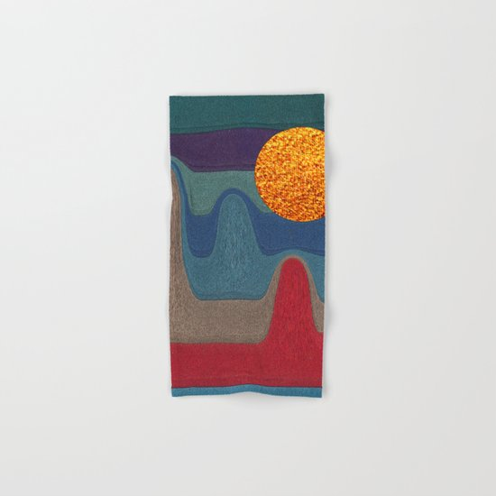 LANDSCAPE WITH SHINING SUN Hand & Bath Towel
