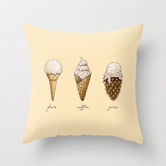 Ice Cream Throw Pillows : Ice Cream Cones Throw Pillow by Mariya Olshevska Society6