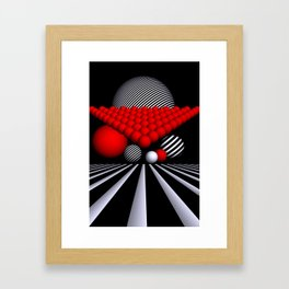 opart iterations Framed Art Print