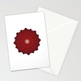 Ornamental round flower decorative element Stationery Cards