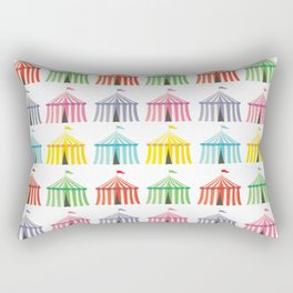 colourful circus tents Rectangular Pillow