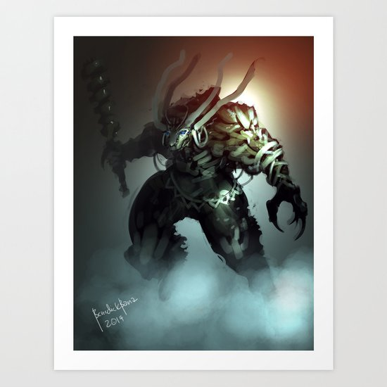 Ice Troll Design A Art Print
