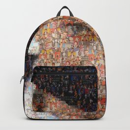 David Bowie Mosaic Art Backpack