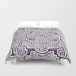 Song to Support Good Health - Traditional Shipibo Art - Indigenous Ayahuasca Patterns Duvet Cover