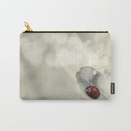 Ladybug in the Snow Carry-All Pouch