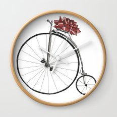 Christmas Bicycle Wall Clock