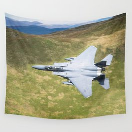 Low Flying F-15E Strike Eagle Wall Tapestry