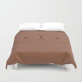 Boobs - Medium Brown Duvet Cover