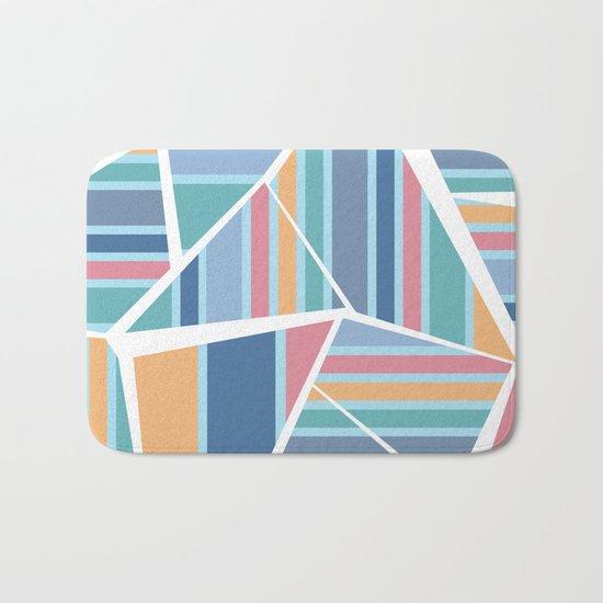 CRAZY STRIPES (abstract pattern) Bath Mat