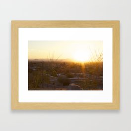 Suburban Desert Sunrise Framed Art Print