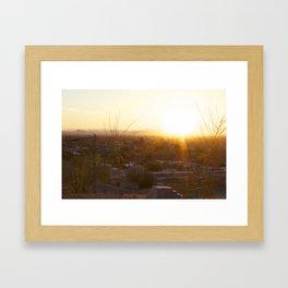Suburban Desert Sunrise Framed Art Print