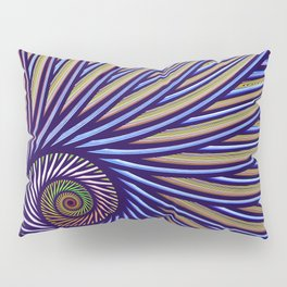 Fantasy bird's eye, fractal pattern abstract Pillow Sham