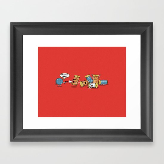 Who's Cute Now!? Framed Art Print