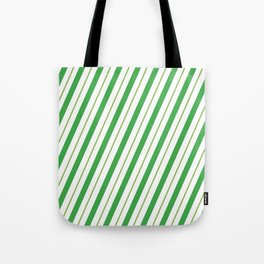 Green Peppermint - Christmas Illustration Tote Bag