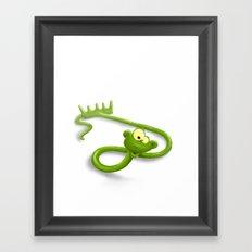 rake in a snake Framed Art Print