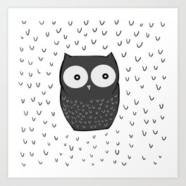 Floating Owl Art Print