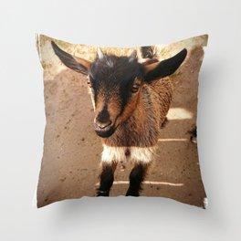 Gorgeous Goat Throw Pillow