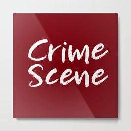 Crime Scene - Red Metal Print