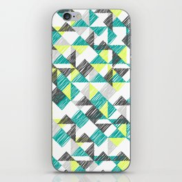 scribble triangles iPhone Skin