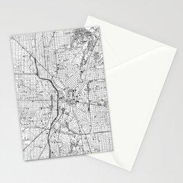Vintage Map of San Antonio Texas (1953) BW Stationery Cards