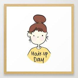 Hair up girl Framed Art Print
