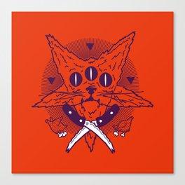 Hell Kitten Canvas Print