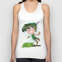 peter pan Tank Tops featuring Peter Pan by EY Cartoons
