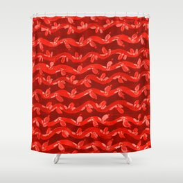 Red Weaving Vines Shower Curtain