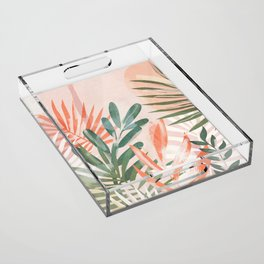 Tropical Leaves 4 Acrylic Tray