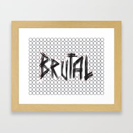 Brutal Fence Framed Art Print