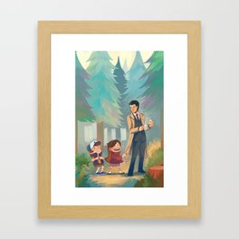 Small Town Adventures Framed Art Print