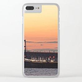 Chesapeake Bay Bridge at sunset Clear iPhone Case