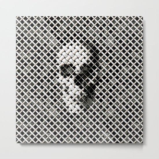 Wicker Skull Metal Print