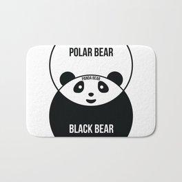 Panda bear venn diagr Bath Mat