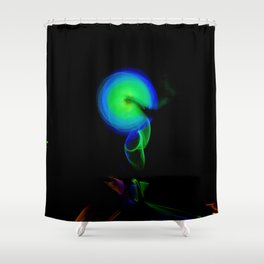 AROUND WE GO Shower Curtain
