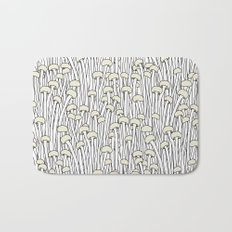 Enokitake Mushrooms (pattern) Bath Mat