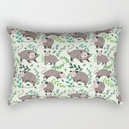 Possums & Plants Rectangular Pillow