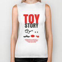 toy story Biker Tanks featuring Toy Story Movie Poster by FunnyFaceArt