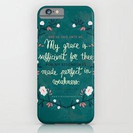 2 Corinthians12:9 iPhone Case